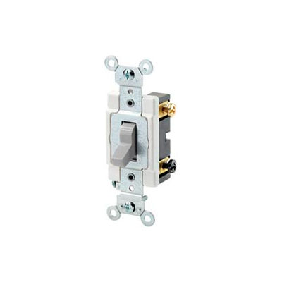 Leviton Csb2-20t 20a, 120/277v, Double-Pole, Grounding, Light Almond