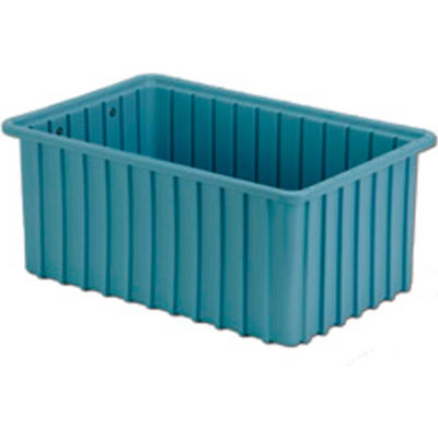 "LEWISBins Divider Box  DC2070 16-1/2"" x 10-7/8"" x 7"", Light Blue - Pkg Qty 6"