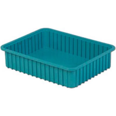 "LEWISBins Divider Box  DC3050 22-3/8"" x 17-3/8"" x 5"", Light Blue - Pkg Qty 4"