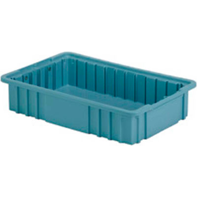 "LEWISBins Divider Box NDC2035 16-1/2"" x 10-7/8"" x 3-1/2"", Light Blue - Pkg Qty 8"
