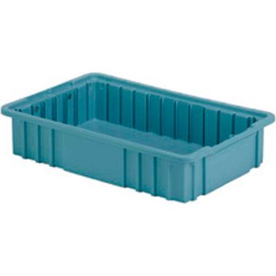 "LEWISBins Divider Box NDC2035 16-1/2"" x 10-7/8"" x 3-1/2"", Light Blue - Pkg Qty 8"