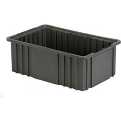 "LEWISBins Divider Box NDC2060 16-1/2"" x 10-7/8"" x 6"", Gray - Pkg Qty 8"