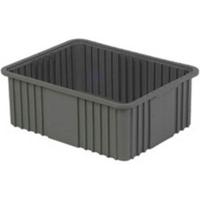 "LEWISBins Divider Box NDC3080 22-3/8"" x 17-3/8"" x 8"", Gray - Pkg Qty 4"