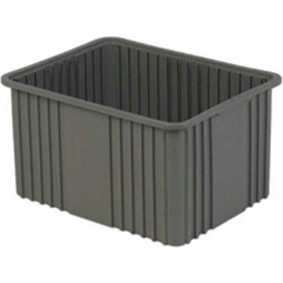 "LEWISBins Divider Box NDC3120 22-3/8"" x 17-3/8"" x 12"", Gray - Pkg Qty 3"