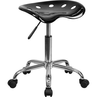 Flash Furniture Desk Stool - Backless - Plastic - Black