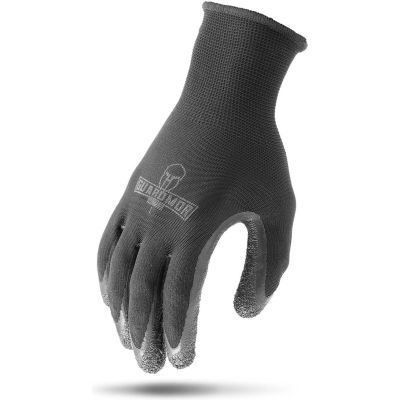 Lift Safety Crinkle Latex Palm Coated Glove, Gray, Medium, 12 Pairs/Pkg, G15PCL-KM