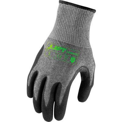 Lift Safety Microfoam Gloves, Carbonwire, A7, Nitrile, XL, Knit Wrist, 13 Gauge