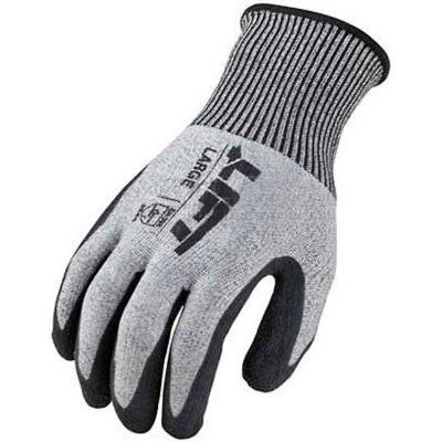 Lift Safety Cut Resistant FiberWire Polyurethane Latex Glove, Large, GFL-19YL