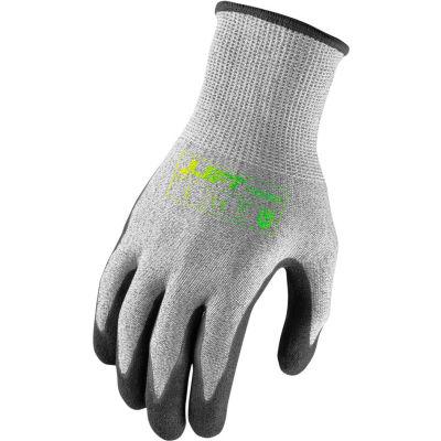 Lift Safety Microfoam Gloves, Fiberwire, A5, Nitrile, Large, Knit Wrist, 13 Gauge