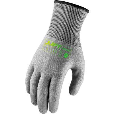 Lift Safety Microfoam Winter Gloves, Fiberwire, A5, Nitrile, XXL, Knit Wrist, 13 Gauge