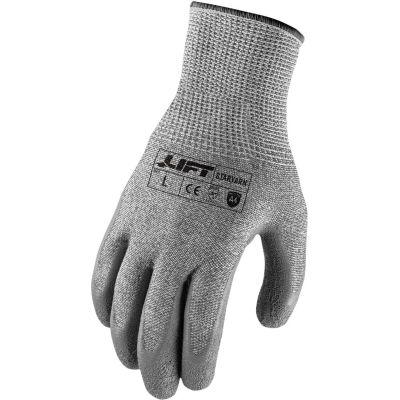 Lift Safety Latex Gloves, Staryarn, A4, Crinkle, XL, Knit Wrist, 13 Gauge