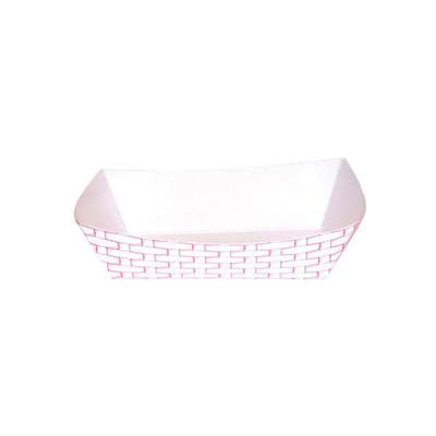 Paper Food Baskets, 25 lbs. Capacity, Red/White, 500 ct