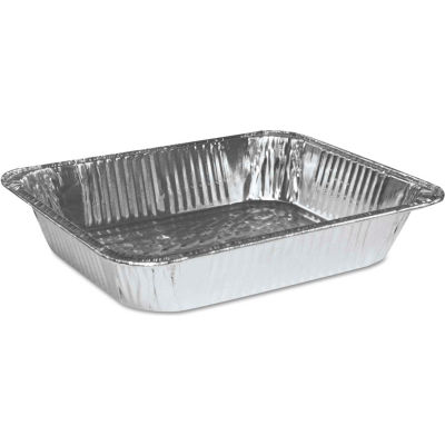 Boardwalk® BWKSTEAMHFDP,  Half Size Steam Table Pan, Aluminum, 100/Case