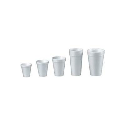 Dart® Foam Cups, Hot/Cold, 10 oz., White, 1000 ct