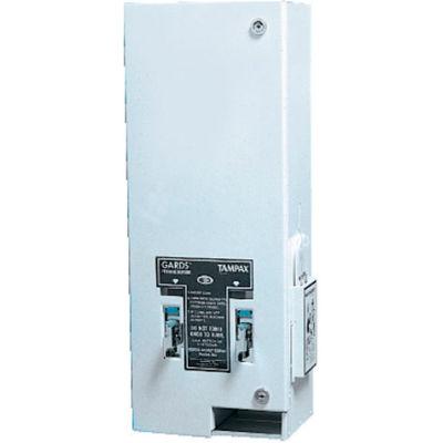 "Dual Coin-Operated Metal Sanitary Napkin/Tampon Dispenser 10"" x 7-1/4"" x 24"", White - HOS125"