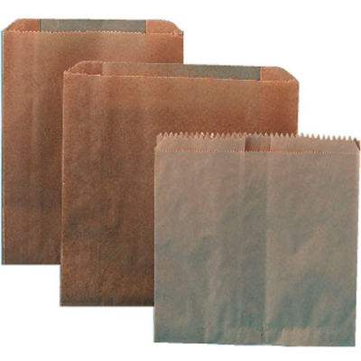 "Kraft Waxed Sanitary Napkin Paper Liners For Floor Receptacles 8"" x 7"" x 8"",  500/Case - HOS6802W"