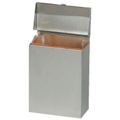 "Hospeco Wall Mount Convertible Sanitary Napkin Receptacle 8"" x 4"" x 11"", Stainless Steel - HOSND1E"