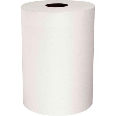 """Scott® Slimroll 1-Ply Hard Roll Towels, White 8"""" x 580' Roll 6 Rolls/Case - KIM12388"""