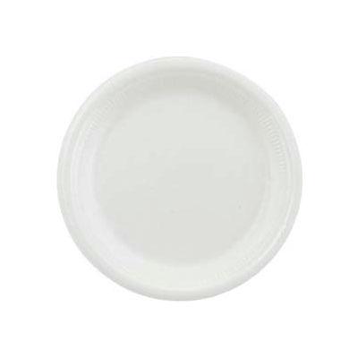 "Dart® SCCRS6BPYW, Foam Plates, 6"" Dia., White, 1000/Carton"