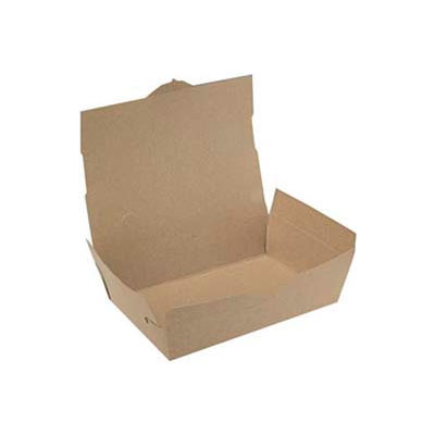 """Champpak Carryout Boxes, 7-3/4"""" Wx5-1/2""""Dx3-1/2""""H, Brown, 160/Ctn."""