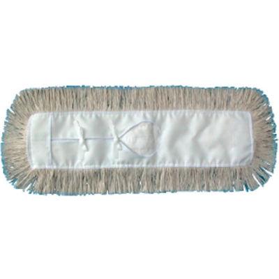 "60"" x 5"" Industrial Hygrade Cotton Dust Mop Head, White - UNS1360"