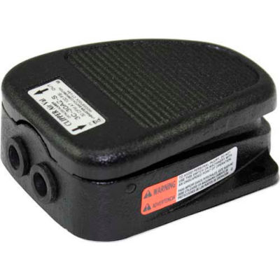 Linemaster 4C-30F2-S Airval Foot Switch, 4-Way Momentary, Black, Cast Iron