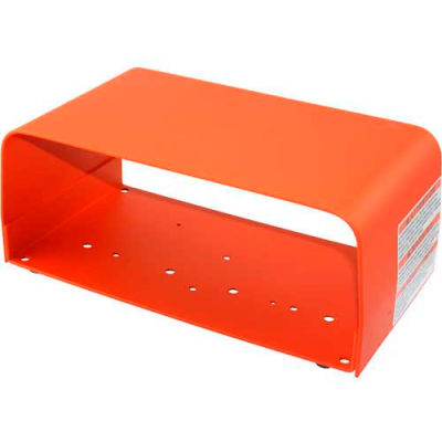 Linemaster 522-B12 Foot Switch Guard, Orange, Steel