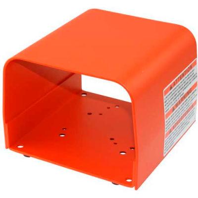 Linemaster 522-B14 Foot Switch Guard, Orange, Steel