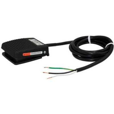 Linemaster 971-DC3JM Aquiline Foot Switch W/8' Cord & 3 Prog Plug, Maintained, Dark Gray, Plastic