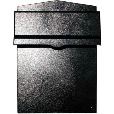 QualArc Collection Mailbox W/Chute LIB-BL-LM6-810 Rear Access Wall Mount 11-1/2x14x16-1/2 Black