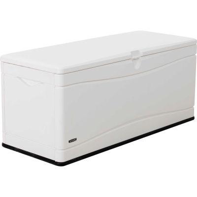 """Lifetime Marine Dock Bench Box 130 Gallon - 60""""L x 24""""W x 24-1/4""""H - White"""