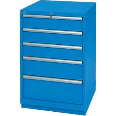 Lista® 5 Drawer Standard Width Cabinet - Bright Blue, Individual Lock