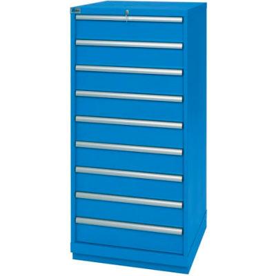 Lista® 9 Drawer Standard Width Cabinet - Bright Blue, Individual Lock