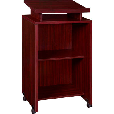 Regency Mobile Podium / Lectern in Mahogany Finish