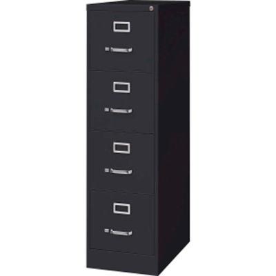 "Lorell® 4-Drawer Heavy Duty Vertical File Cabinet, 15""W x 25""D x 52""H, Black"