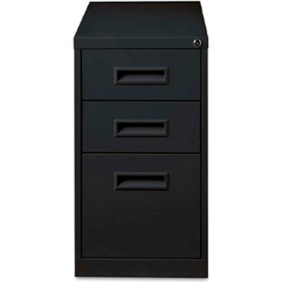 """Lorell® Box/Box/File Mobile Pedestal File, 15""""W x 19""""D x 28""""H, Black"""