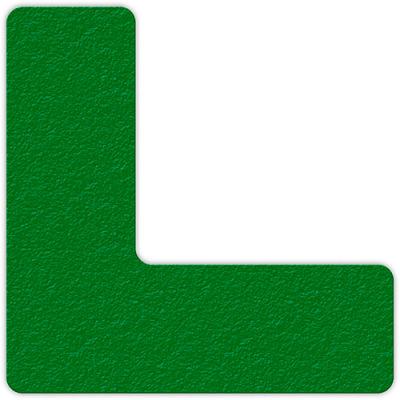 Floor Marking Tape, Green, L Shape, 25/Pkg., LM110G
