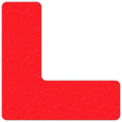 Floor Marking Tape, Red, L Shape, 25/Pkg., LM110R