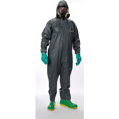 Lakeland 51130 Pyrolon® CRFR Disposable Coverall 4XL, Hood, Elastic Face/Wrists/Ankles, 6/Case