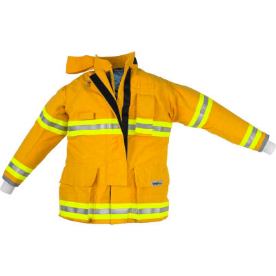"""Lakeland AT3202Y OSX Attack™ Fire Protective Turnout Gear Coat 42"""", Yellow"""