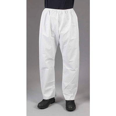 Lakeland CTL301 Micromax® NS Disposable Pants XL, White, Elastic Waist, 50/Case