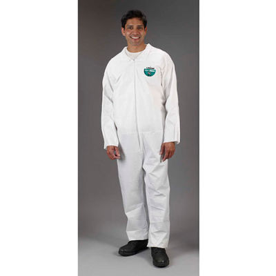 Lakeland CTL412 Micromax® NS Disposable Coverall 2XL, White, Zipper, 25/Case