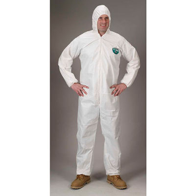 Lakeland CTL428 Micromax® NS Disposable Coverall XL, Hood, Elastic Wrists/Ankles, 25/Case
