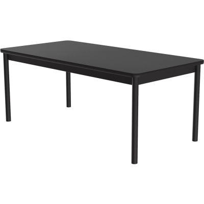 "Correll Library Tables 30""W x 60""L x 29""H - Black Granite"