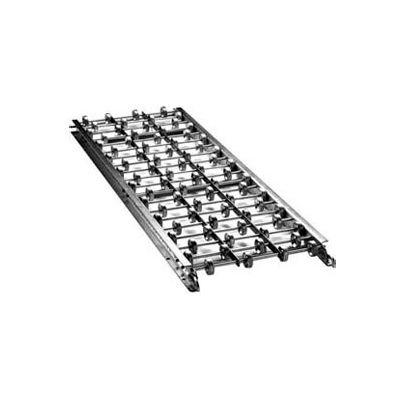 "Ashland 5' Straight Galvanized Steel Skatewheel Conveyor 33970 - 15"" OAW - 10 WPF"