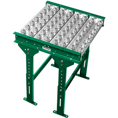 "Ashland Conveyor 3' Ball Transfer Conveyor Table 30397 - 10"" BF - 3"" Ball Centers"
