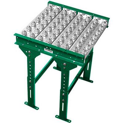 "Ashland Conveyor 3' Ball Transfer Conveyor Table BTIT360304 - 36"" BF - 4"" Ball Centers"