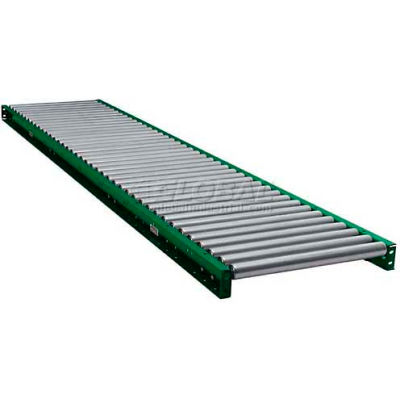 "Ashland 10' Straight Roller Conveyor 31223 - 16"" BF - 1.9"" Roller Diameter - 6"" Axle Centers"