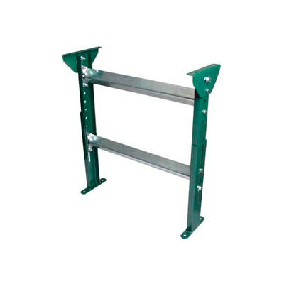 "H-Stand Support for Ashland 24"" OAW Skatewheel & 22"" BF Roller Conveyor - 31"" to 43""H"