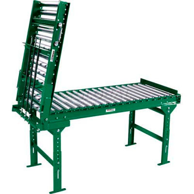 """Ashland 3' Spring Assisted Roller Conveyor Gate - 36"""" BF - 1.9"""" Roller Diameter - 3"""" Axle Centers"""